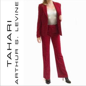 Tahari ASL Blazer Jacket Power Red Career Wear 14